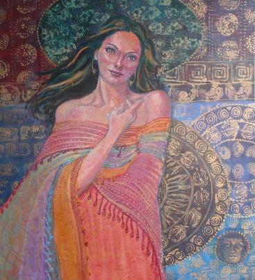 Divine Feminine, 24 x 22 in, acrylic SOLD