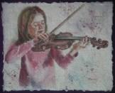 Lauren's Lullaby I, 9 x 12 in, watercolour on handmade paper
