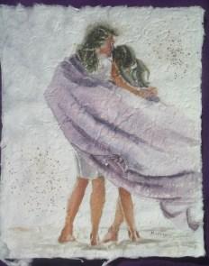 Momma Mia, 12 x 9.5, watercolour on handmade saa paper