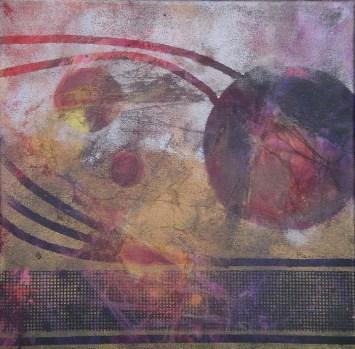 Moon Shadow II, 12 x 12 in, mixed media