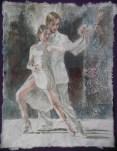 White on White Tangueros II, 12 x 9.5, watercolour on handmade saa paper