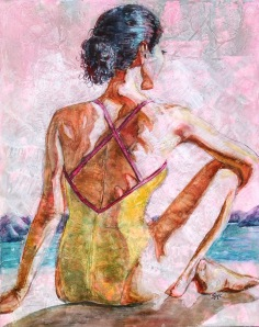 At The Lake II, 20 x 16, watercolour over gesso on board, sold