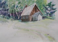 Bethel Road Church, Haliburton, 22 x 30 in, watercolour and ink