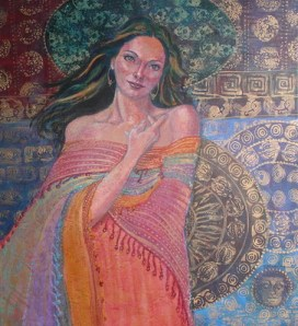 Divine Feminine, 24 x 22 in, acrylic-verysm