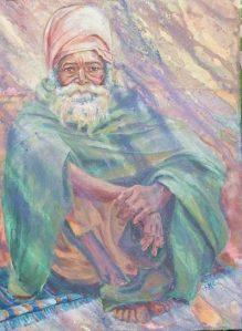 Ganga Mendicant, acrylic, 24 x 18 in, (61 x 46cm), 03-05, Shirley Mancino