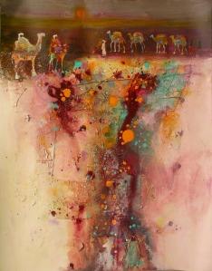 Pushkar Gathering IV, mixed media, 26 x 20 in-sm