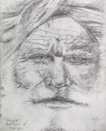 Pushkar Rajput, pencil sketch, 4 x 3 in