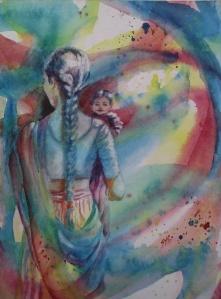 Rainbow Gazing, 12 x 9 in, watercolour