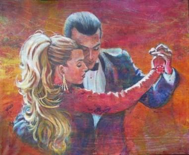 Red Tango, 20 x 24 in, acrylic