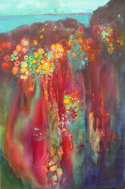 Sea Garden, 36 x 24 in, mixed media on canvas