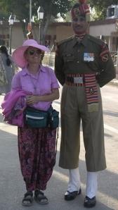 Shirley on the Pakistani border