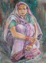 Sitting Pretty, 20 x 16 in, watercolour SOLD