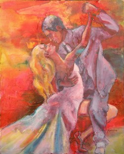 Tango Fever I, 20 x 16 in, mixed media