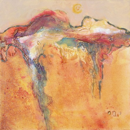 Tuscan Sun VI, 12 x 12 in, mixed media