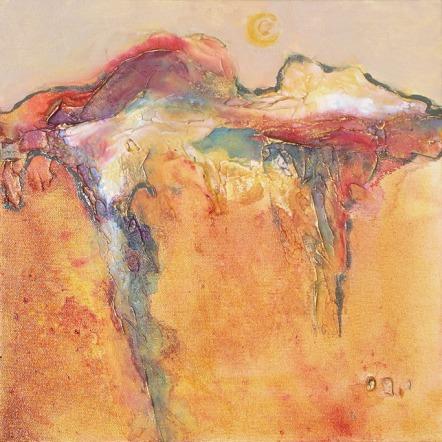 Tuscan Sun VI, 12 x 12 in, mixed media