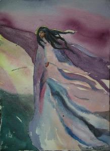 Wind Dancer, watercolour, 15x12in, donation